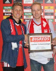 Bastian Schweinsteiger Ehrenmitglied bei den BIGREDS
